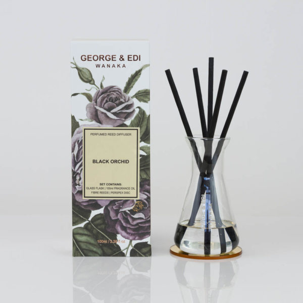GEORGE & EDI Black Orchid reed diffuser set New Zealand
