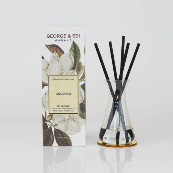 GEORGE & EDI Liquorice reed diffuser set New Zealand